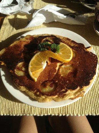 Cabinas Eddy B&B: Banana pancake