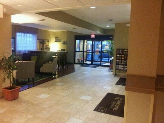 Sleep Inn and Suites:                   the lobby