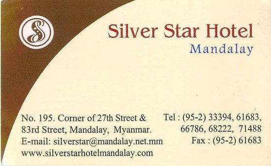 Business card front picture of silver star hotel mandalay silver star hotel business card front colourmoves