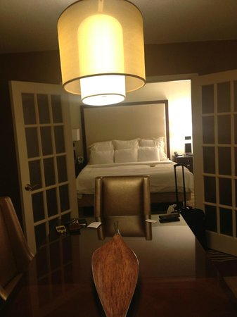 Charleston Marriott Town Center : Bedroom had king bed, french doors and an additonal entrance to the bath area