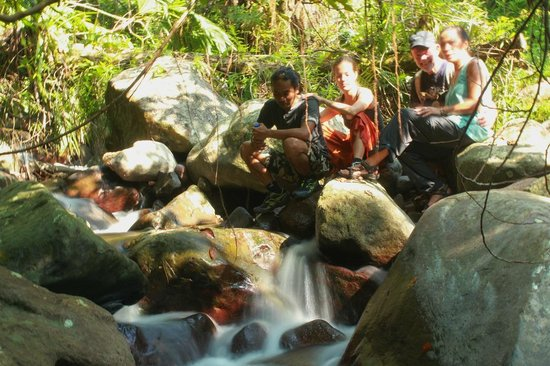 Desa Wae Rebo: if you tired, you can take a rest in the riverside