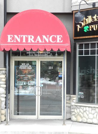 ID required - Shillelagh's Pub entrance - Jan 2013