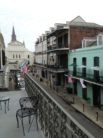 Bourbon Orleans Hotel:                   View from Room 2 balcony