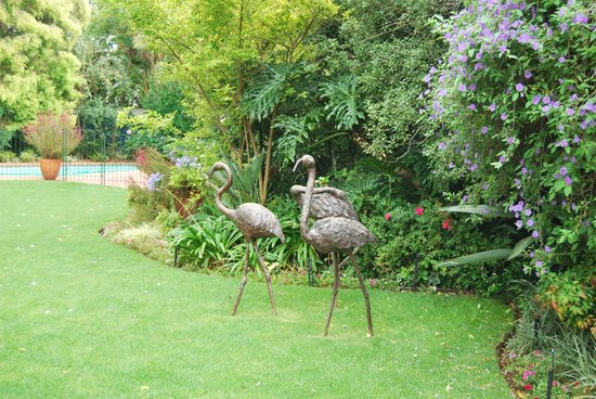 Cotswold Gardens Guest House:                   Bronze sculptures in the garden