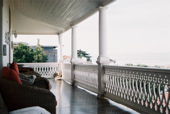 The Inn at Castle Hill:                   Balcony overlooking Kalk Baii