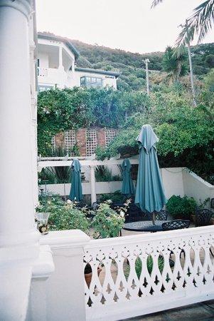 The Inn at Castle Hill:                   Terrace beside Inn