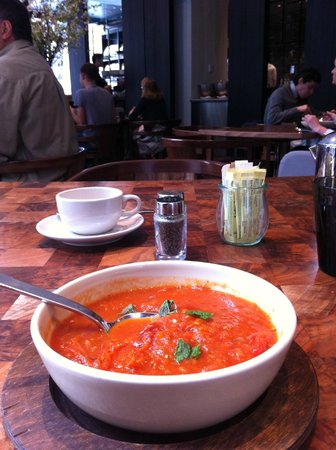 Andaz 5th Avenue:                   My favourite tomatoes soup from the SHOP