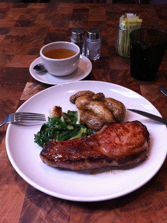 Andaz 5th Avenue:                   Lunch-Pork chop YUMMY