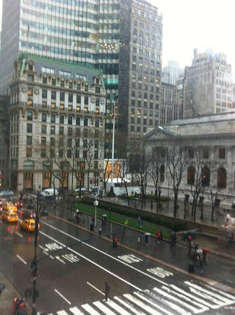 Andaz 5th Avenue:                   View from Splash Suites bedroom