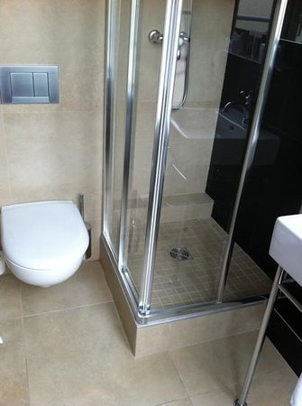 Hotel Observatoire Luxembourg:                   small shower stall but great water pressure!