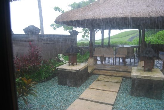Pan Pacific Nirwana Bali Resort:                   It's not Bali without a rainy day!