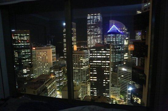 Amora Hotel Jamison Sydney:                   Night time view from room 3409
