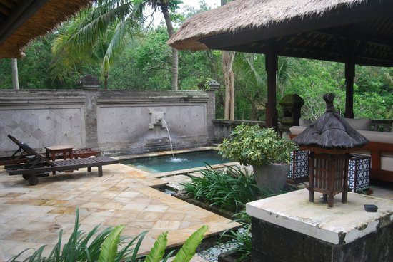 Pan Pacific Nirwana Bali Resort :                   Plunge pool and outdoor area of villa 711