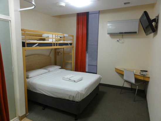 Ibis Budget Melbourne CBD: 'Bunk bedding, the top bunk was great for storage'