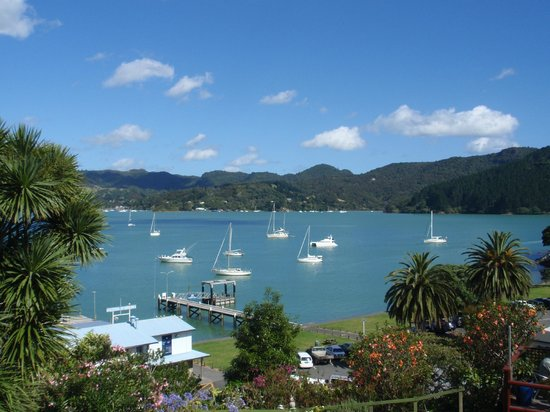 Whangaroa Lodge Motel:                   View out across the Harbour