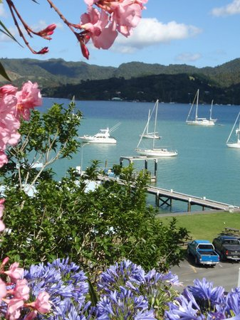 Whangaroa Lodge Motel:                   View from ground level across the Harbour