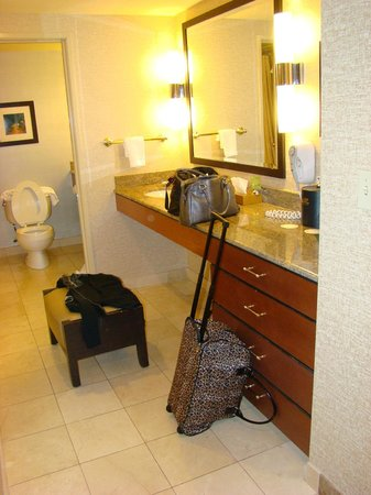 Rio All-Suite Hotel & Casino:                   nice to have 2 vanity areas, one outside of restroom and one inside