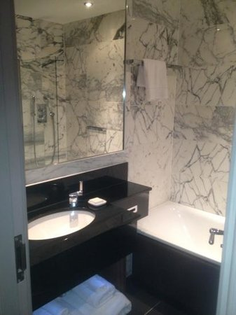The Bloomsbury: bathroom in standard room