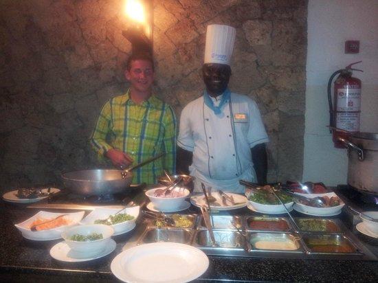 Voyager Beach Resort: Johari made lovely pasta
