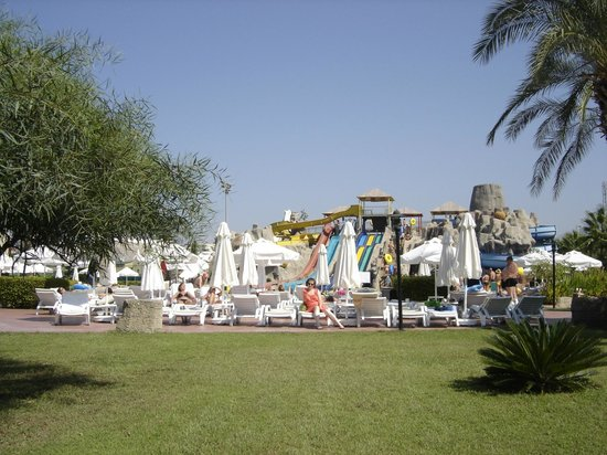 Silence Beach Resort:                   aqua park in the back
