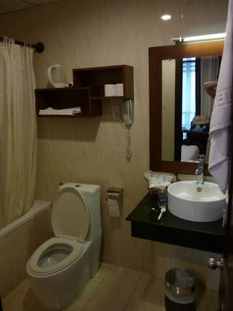 Asian Ruby Park View Hotel:                                                       Bathroom