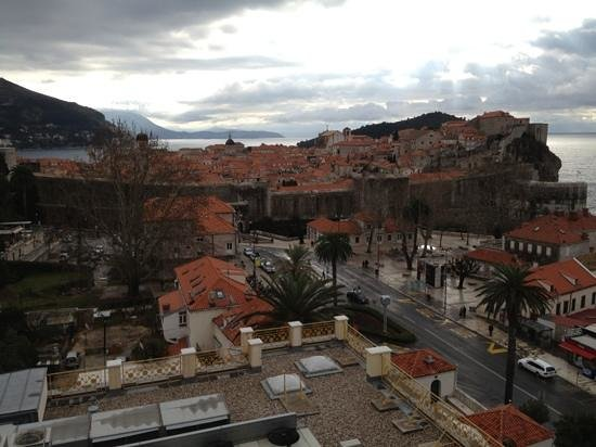 Hilton Imperial Dubrovnik:                   View of the Old Town from 4th floor balcony.