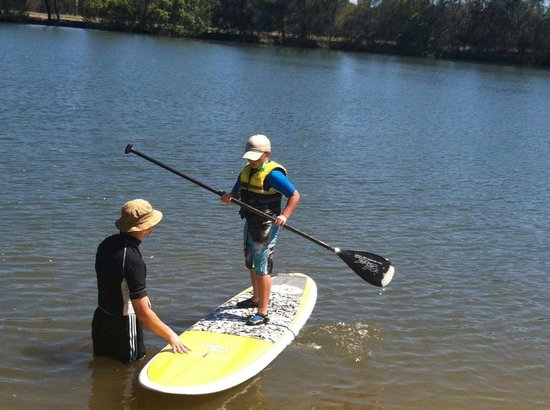 Maroochy River Resort & Bungalows:                   Stand up paddle boats