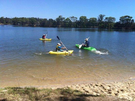 Maroochy River Resort & Bungalows:                   kayaks