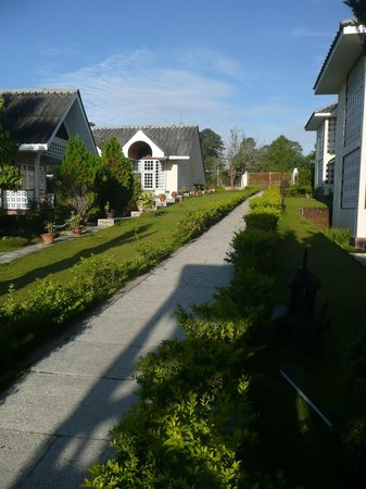 Landscaped gardens and bungalows