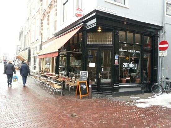 Photo of Modern European Restaurant Cafe Zondag at Voldersgracht 7, Delft 2611 ET, Netherlands