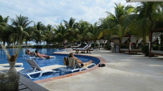 El Dorado Maroma, a Beachfront Resort, by Karisma:                   Pool and lounging area