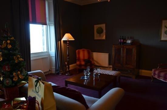 The Edinburgh Residence : el living con nuestro arbolito improvisado
