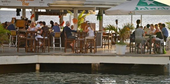 Bamboo Bali Bonaire - Boutique Resort: waterfront bar