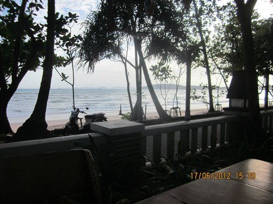 Golden Beach Resort:                   View from the open air restaurant
