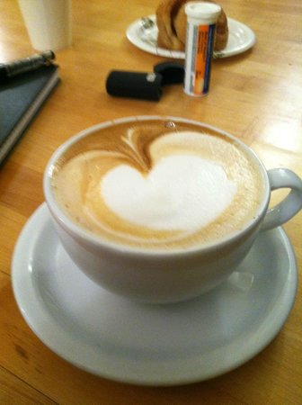 Evergrain Bread Company:                   Fresh Latte at Against the Grain !!!