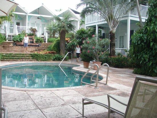 Marquesa Hotel :                   0ne of 2 pools and garden area