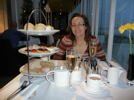 The Sun Terrace Restaurant :                                     Afternoon tea at The Midland