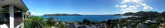 Raffles Praslin, Seychelles: panoramic view from the patio