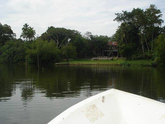 Roman Lake Hotel: view from madu ganga