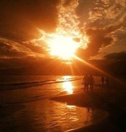 Praia do Sonho, SC: Ponta do Papagaio - final de tarde