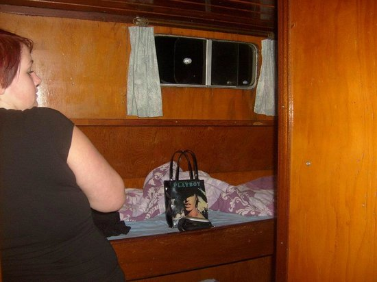 Hostelboat Anna Maria II: not for tall people