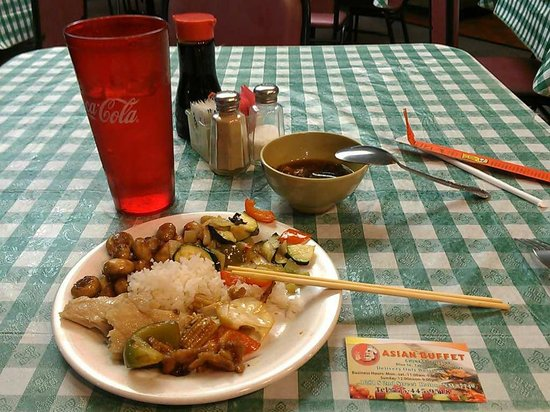 China Kitchen: My table with a business card