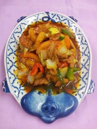 Thai Rice Restaurant: Sweat & Sour Pork in Sauce หมูเปรี้ยวหวาน