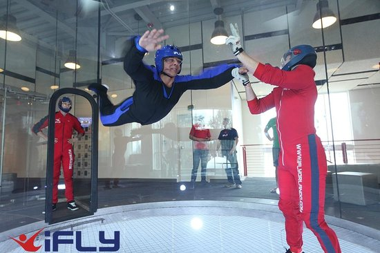 Go indoor skydiving in Austin, Texas. Powered by multiple fans located at the top of the flight chamber, the vertical wind tunnel produces a wall-to-wall air flow that is indistinguishable from freefalling from 11,ft. Professional instructors make the most of the air flow so you can truly experience the closest thing to human flight.