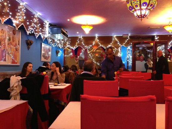 Mayura: A pic from my table looking to the front of the restaurant