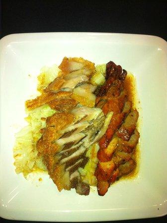 China Potts: Pork belly and char-siew pork...yummy