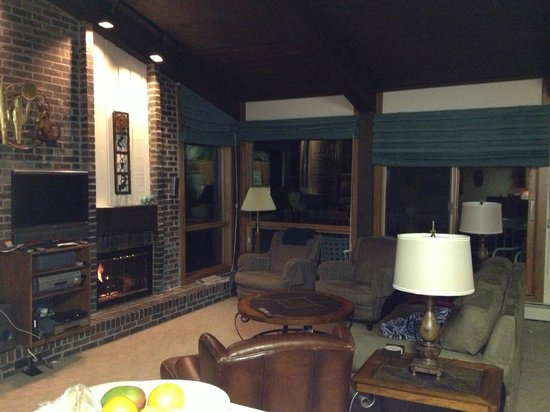 Top of the Village Condominiums, A Destination Residence :                   Living room with Fire place