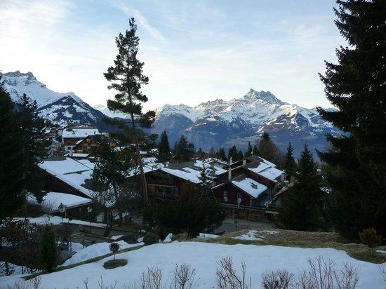 Villars-Gryon Ski Center: Vue de la chambre d'hôtel