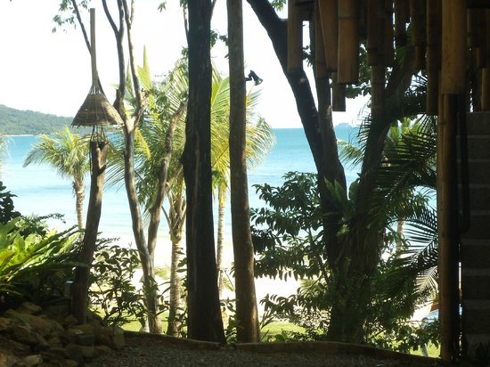 Beyond Resort Krabi:                   View from the Room - Cottages on the beach side