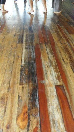 Costa Rica Yoga Spa:                   beautiful wood floors for bare feet
